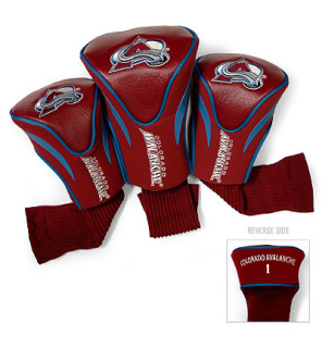 Colorado Avalanche 3 Pack Contour Golf Club Headcovers